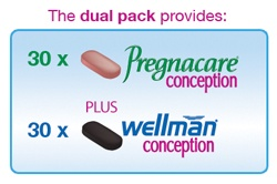 Viên wellman conception trong Pregnacare His and Her 4